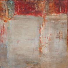 "Martha Rea Baker|Karan Ruhlen Gallery Santa Fe Contemporary Fine Art. EXCAVATION 36 x 36"" ENCAUSTIC, MIXED MEDIA ON PANEL"