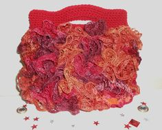 Crochet tote Bag  ruffles purse bag tote tote by kathyskrochetnook, $36.00