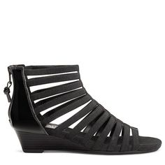 Aerosoles Women's Yet Plane Wedge Sandals (Black Patent) - 10.0 M