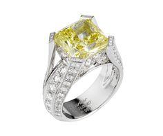 Cartier solitaire diamant jaune
