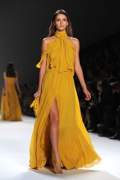 Elie Saab spring 2012 - flowy chiffon in yellow