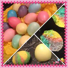 Æggeskaller med kage i