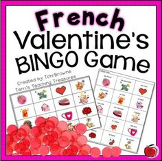 French is the second most taught language in the world only after English. French as well as English is the official working language of the International Red Cross, NATO, the United Nations, the International Olympic Committee and ma French Teaching Resources, Teaching French, The Calling, Calling Cards, Valentine Bingo, Valentines Day, Lotto Games, Learn To Speak French, Core French