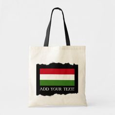 Shop Slovenia Flag Tote Bag created by HappyPlanetShop. Chicago City Flag, Slovenia Flag, Hungary Flag, Red And White Flag, Custom Tote Bags, Large Tote, Reusable Tote Bags, Flags, Gender