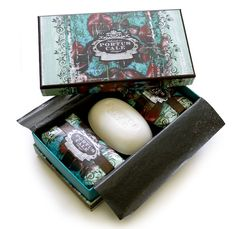 Portus Cale Black Orchid Three Piece Soap Set Made in Portugal  Distributed in Australia by Supertex