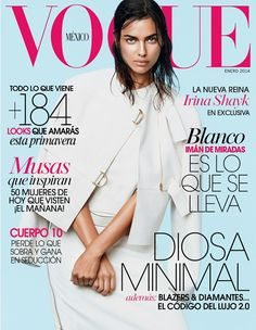 Magazine photos featuring Irina Shayk on the cover. Irina Shayk magazine cover photos, back issues and newstand editions. Vogue Brazil, Vogue Mexico, Vogue Japan, Irina Shayk, Vogue Magazine Covers, Vogue Covers, Sports Illustrated, Minimalist Photos, Fashion Cover