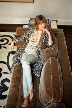 layered prints and that sofa! | Le Curate
