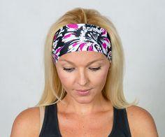 Yoga Headband Black Workout Headband Running by YogaHeadbands