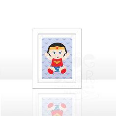 FREE SHIPPING Baby Superhero Print Inspired by by ChloeBearDecor