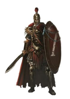 Male Human Falcata Shield Roman Fighter - Pathfinder PFRPG DND D&D 3.5 5th ed d20 fantasy
