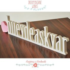 bu evde aşk var  means there is love in this house / wooden letters / www.dreammachineworks.com