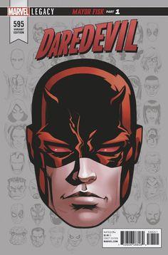 Daredevil Comic Issue 595 Limited Headshot Variant Modern Age First Print 2017 Marvel Comics, Marvel Comic Books, Marvel Heroes, Comic Books Art, Comic Art, Deathstroke, Daredevil Art, Frank Miller, Movies