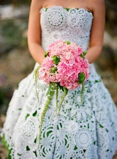 10 DIY Wedding Dress Patterns | Crochet and knitting - Free patterns
