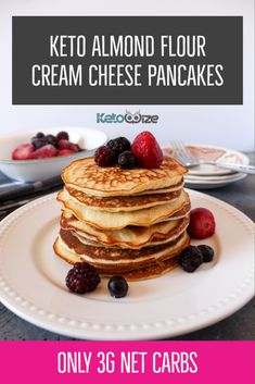 These easy keto almond flour cream cheese pancakes are the best we've ever tried. Both healthy and simple, these pancakes […] Almond Flour Pancakes, Low Carb Pancakes, Low Carb Breakfast, Keto Cream Cheese Pancakes, Thin Pancakes, Coconut Flour, Almond Recipes, Low Carb Recipes, Keto Waffle