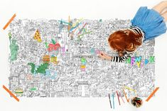 Pirasta makes amazing, oversized coloring posters that adults can't resist either