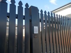 The Motorised Gate Company - Rosslare Stainless Steel Keypad - Steel Picket Gates - http://www.themotorisedgatecompany.com.au/