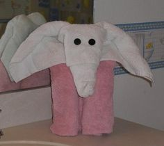 How to fold towel animals: http://FoldingMagic.com