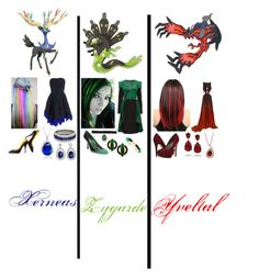 """""""Pokemon - Xerneas,Zygarde,and Yveltal"""" by queen-taylor-brie ❤ liked on Polyvore featuring Christian Louboutin, Collette Z, Kenneth Jay Lane, Miu Miu, Zara Taylor, Alexis Bittar, Lattori, Lord & Taylor, Roberto Cavalli and Michael Antonio"""
