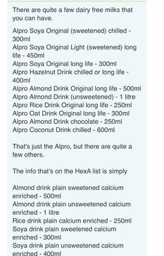 Hex A alpro milk alternatives Vegan Slimming World, Slimming World Tips, Vegan Milk, Cashew Milk, Milk Alternatives, Dairy Free Milk, Vegetarian Food, Plant Based, Good Food