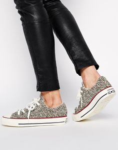 I want these  Converse Chuck Taylor All Star Charcoal Winter Knit Trainers