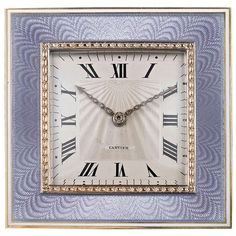 Art Deco Desk Clock by Cartier | From a unique collection of antique and modern clocks at https://www.1stdibs.com/furniture/more-furniture-collectibles/clocks/