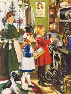 This Rockwell Painting made me think of all my Friends who are baking up Christmas goodies today....