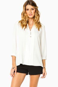 ShopSosie Style : Prisilla Blouse in White