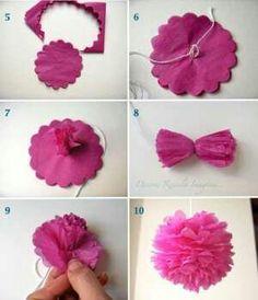 Flores papel de seda