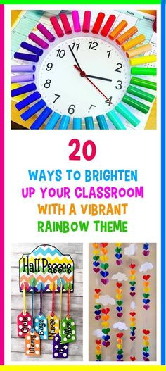 20 Ways to Brighten Up Your Classroom With a Vibrant Rainbow Theme rainbow theme classrooms_featured image_Bored Teachers The post 20 Ways to Brighten Up Your Classroom With a Vibrant Rainbow Theme appeared first on Toddlers Diy. Preschool Classroom Themes, Preschool Rooms, Classroom Decor Themes, New Classroom, Toddler Classroom Decorations, Themes For Classrooms, Preschool Room Layout, Preschool Schedule, Diy Classroom Decorations