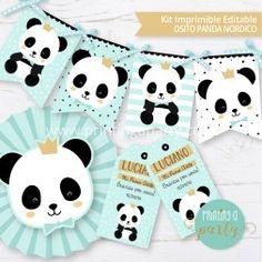 Panda Birthday, Baby Birthday, Birthday Party Themes, Panda Candy, Panda Baby Showers, Panda Bebe, Gaspard, Ideas Para Fiestas, Christening