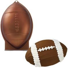 Watch the scrimmage when your party guests see this football shaped Cake! Perfect for Birthday Parties or Football Sunday gatherings. The Package Includes one Football Aluminum Cake Pan and you can be First Football, Football Birthday, Football Food, Football Season, Football Cakes, Football Desserts, Chiefs Football, Football Stuff, Theme Sport