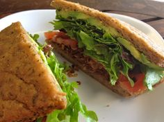 Vegan BLT made with coconut bacon from Healthy Creations in Encinitas!