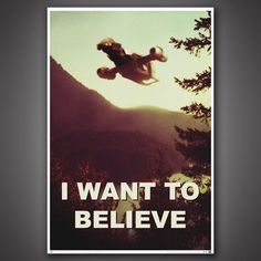 """This shiny """"I Want to Believe"""" poster featuring Serenity from """"Firefly"""" ($17.69) is perfect for any Browncoat or """"X-Files"""" fan in your life. The poster features the Firefly-class Serenity ship flying above a sepia-toned world. It's a great mashup of """"Firefly"""" and """"X-Files"""" for anyone that loves fake aliens out in the 'Verse. Get it here: www.space.com/27791-space-gifts.html?cmpid=518257"""