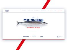 Fish shop landing page by Alleaume Jeremy