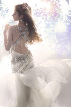 Back of the crystal fringe dress. <3!  Luxurious Crystal Wedding Dresses by Kelly , via Behance