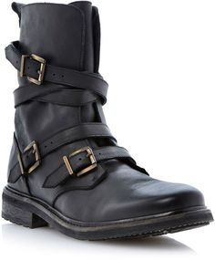 Bertie Carboretta strap and buckle biker boot on shopstyle.co.uk