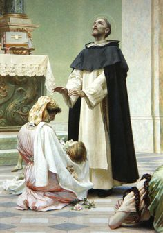 St. Dominic by Vlaho Bukovac (Croatian 1855 - 1922)