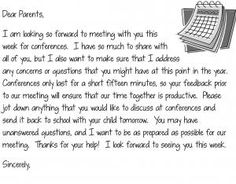 letter to parents from teacher template