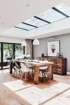 Susie McKechnie meticulously planned her kitchen/dining/living room extension to. - Susie McKechnie meticulously planned her kitchen/dining/living room extension to achieve a beautifu - Sweet Home, Interior Decorating, Interior Design, Decorating Ideas, Modern Interior, Natural Interior, Scandinavian Interior, Marble Interior, Interior Paint