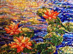 Water Lilies - 2012 Mosaic Smalti tile Monet