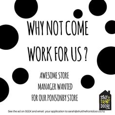 We are hiring...Are you a gun store manager?...Then send us your CV now!  See the ad on Seek now  #storemanager #hiring #vacancy #cooljob #retailjob #shutthefrontdoorstore #stfdnz #ponsonby #auckland