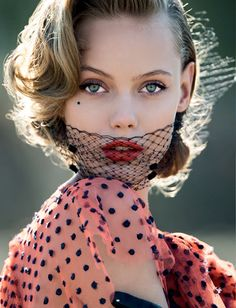 Frida Gustavsson by Hans Feurer for Antidote Spring/Summer 2013 - love the lower mask