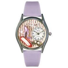 Shoe Shopper Lavender Leather And Silvertone Watch - http://www.artistic-watches.com/2013/01/29/shoe-shopper-lavender-leather-and-silvertone-watch-2/