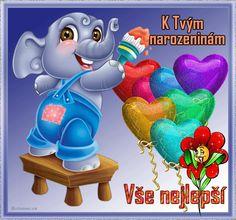 Happy Birthday, Tweety, Smurfs, Humor, Christmas Ornaments, My Love, Holiday Decor, Character, Anna