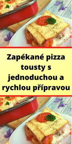 Zapékané pizza tousty s jednoduchou a rychlou přípravou Pizza, Bread, Food, Brot, Essen, Baking, Meals, Breads, Buns