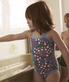 Little Bird By Jools Floral Swimming Costume, esigned exclusively by Jools Oliver for Mothercare.