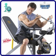 Ggbe1486 Gold S Gym Xrs 20 Olympic Workout Bench And Rack Usa Stock Goldsgym