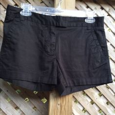 J. Crew Favorite Fit Black Shorts True black. Zip and hook. Worn once or twice in my XS life. Still look and feel new. J. Crew Shorts