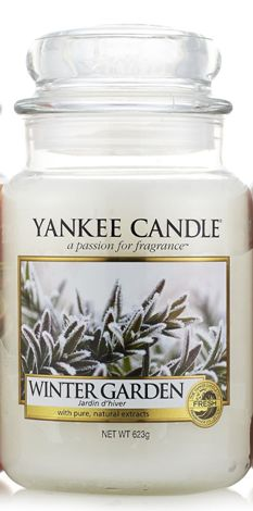 "Limited Edition Yankee Candle Winter and Fall releases. ""Winter Garden"""