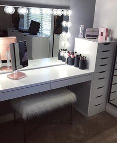Makeup studio room ideas makeup studio decor ideas beauty room in home decorators collection blinds warranty . Ikea 9 Drawer, Drawer Unit, Drawer Dividers, Ikea Alex Drawers, Decor Room, Bedroom Decor, Home Decor, Bedroom Ideas, Room Decorations Teen